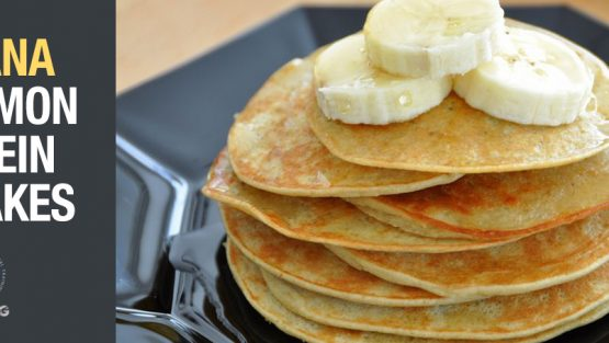 Banana Cinnamon Protein Pancakes